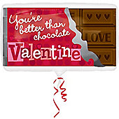 Valentines Balloons 22' You're Better Than Chocolate Supershape (each)