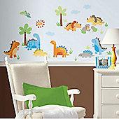 Babysaurus, Boys Dinosaur Bedroom Decals. Pack of 42