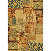 Mastercraft Rugs Galleria Ivory Red Patchwork Rug - 120cm x 170cm