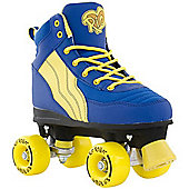 Rio Roller Pure Blue/Yellow Quad Roller Skates - Blue