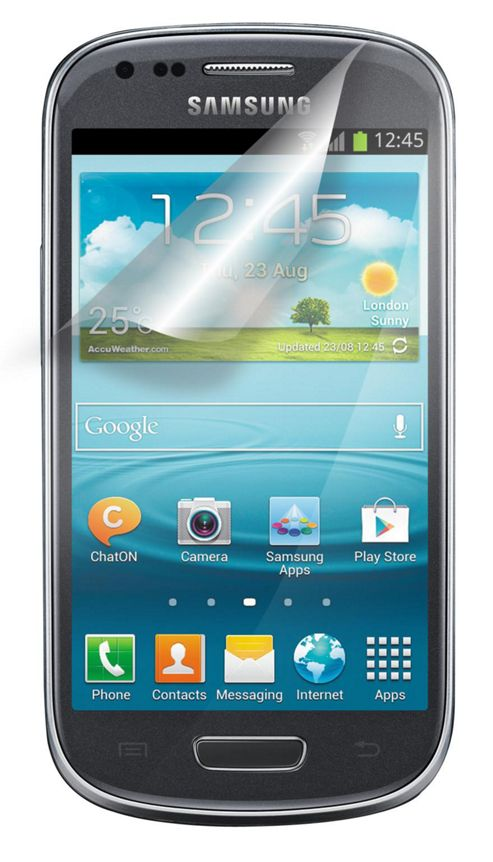 Tortoise™ Look Samsung Galaxy SIII Mini Screen Protector Twin Pack.