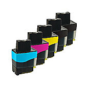 5 Compatible Ink Cartridges for Brother MFC 425CN - Cyan / Yellow / Magenta / Black (Capacity: 98 ml)
