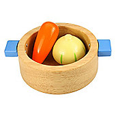 Bigjigs Toys BJ701 Wooden Play Food Casserole Dish with Vegetables