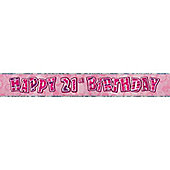 Dazzling Effects 21st Birthday Banner (each)
