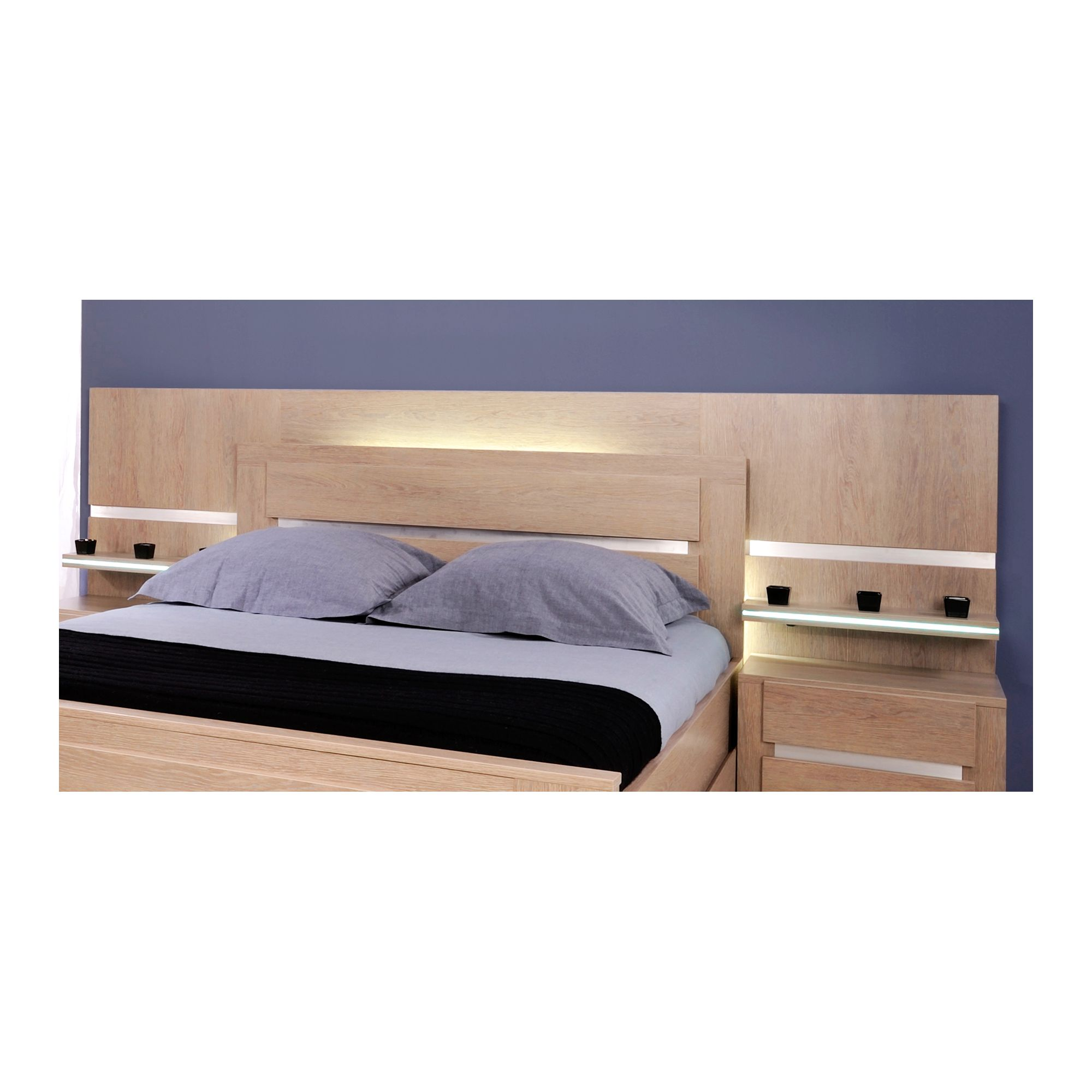 Parisot Shadow Bed Headboard in Ash Oak - European King at Tesco Direct