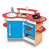 Melissa And Doug 13950 The Cook's Wooden Corner Play Kitchen