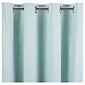 Tesco Plain Canvas Unlined Eyelet Curtain 66x54'' -Eau De Nil