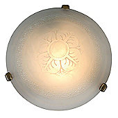 Naeve Leuchten Terra 1 Light Ceiling Light in Smoked
