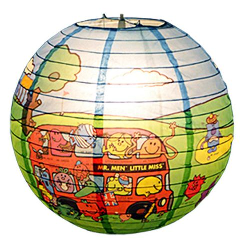 Loxton Lighting Mr. Men Golf and Bus Design Paper Lantern