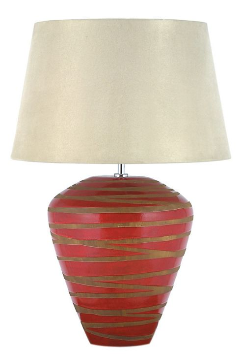 Aimbry Volcanic Wide Table Lamp - Red