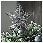 Tesco Battery Operated Silver Tree Topper