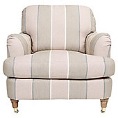 Florence Armchair Linen Effect Stripe Rose