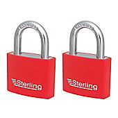 Sterling Aluminium Padlocks - 50mm Pack of 2