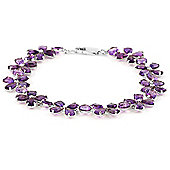 QP Jewellers 5in 20.70ct Amethyst Blossom Bracelet in 14K White Gold