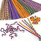 Stripy Pipe Cleaners Value Pack (Pack of 50)