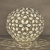 Moroccan Style Metal Table Lamp, Cream