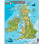Larsen Card Puzzle Topographical Great Britain and Ireland