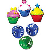 ZooBooKoo Cup Cake Dice Level 2 Maths Game