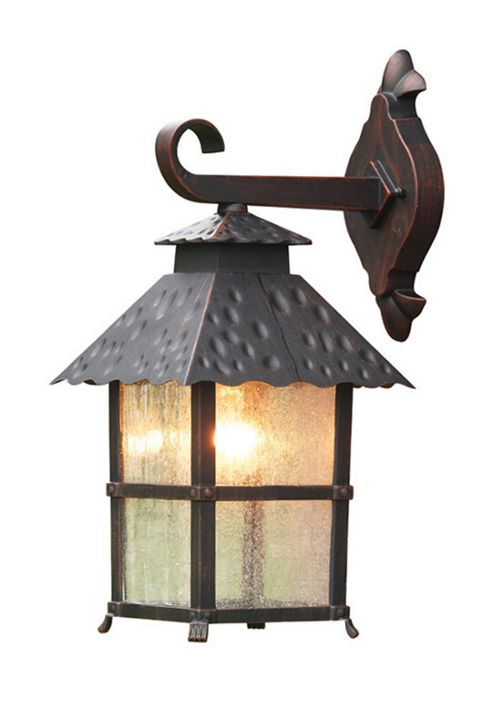 Elstead Lighting Wadebridge 1 Light Outdoor Wall Lantern in Rust