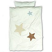 Baby Boum Melow Star Duvet Cover & Pillowcase Set (Ecru)