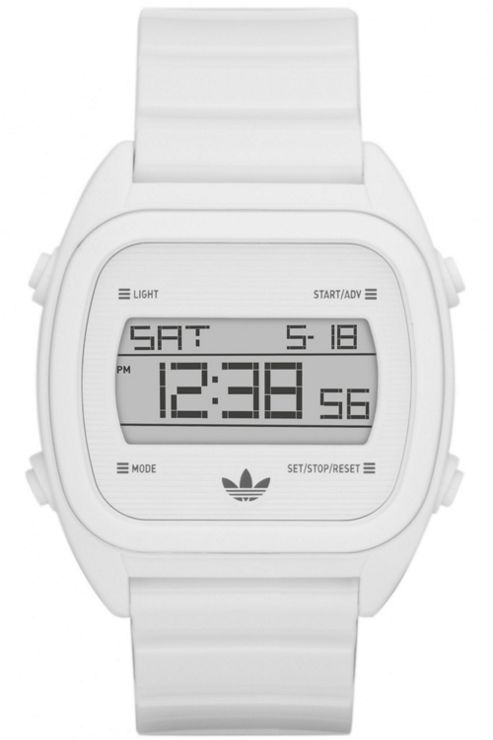Adidas Gents Digital Sydney Alarm Chronograph White Rubber Strap Watch ADH2727