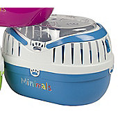 Pet Brands Minimals Animal Carrier - Blue - Extra Small (18cm H x 25cm W x 19cm D)