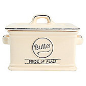T&G Pride of Place Butter Dish, Cream