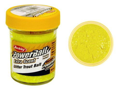Berkley Powerbait Select Glitter Troutbait - Sunshine Yellow Twin Pack