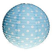 Blue Paper Polka Dot Lampshade