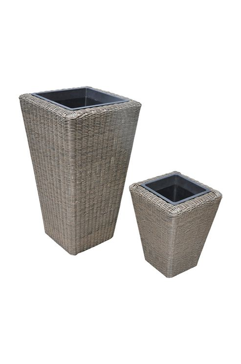 buy st tropez 2pc planter set from our planters range tesco. Black Bedroom Furniture Sets. Home Design Ideas