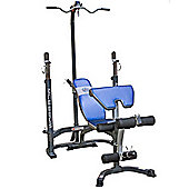 Marcy MCB880m Olympic Weight Bench with Squat Rack and Lat Pull