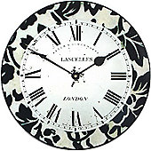 Roger Lascelles Clocks Modern Damask Wall Clock