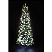 7ft Pre-Lit Pop-Up Pine Tree with 300 C6 Warm White LEDs