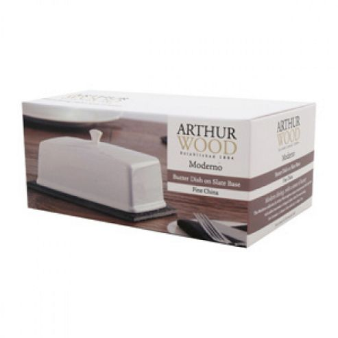 Arthur Wood 'Moderno' Butter Dish with Slate Base