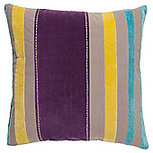 F&F Home Stitched Stripe Cushion, Grape