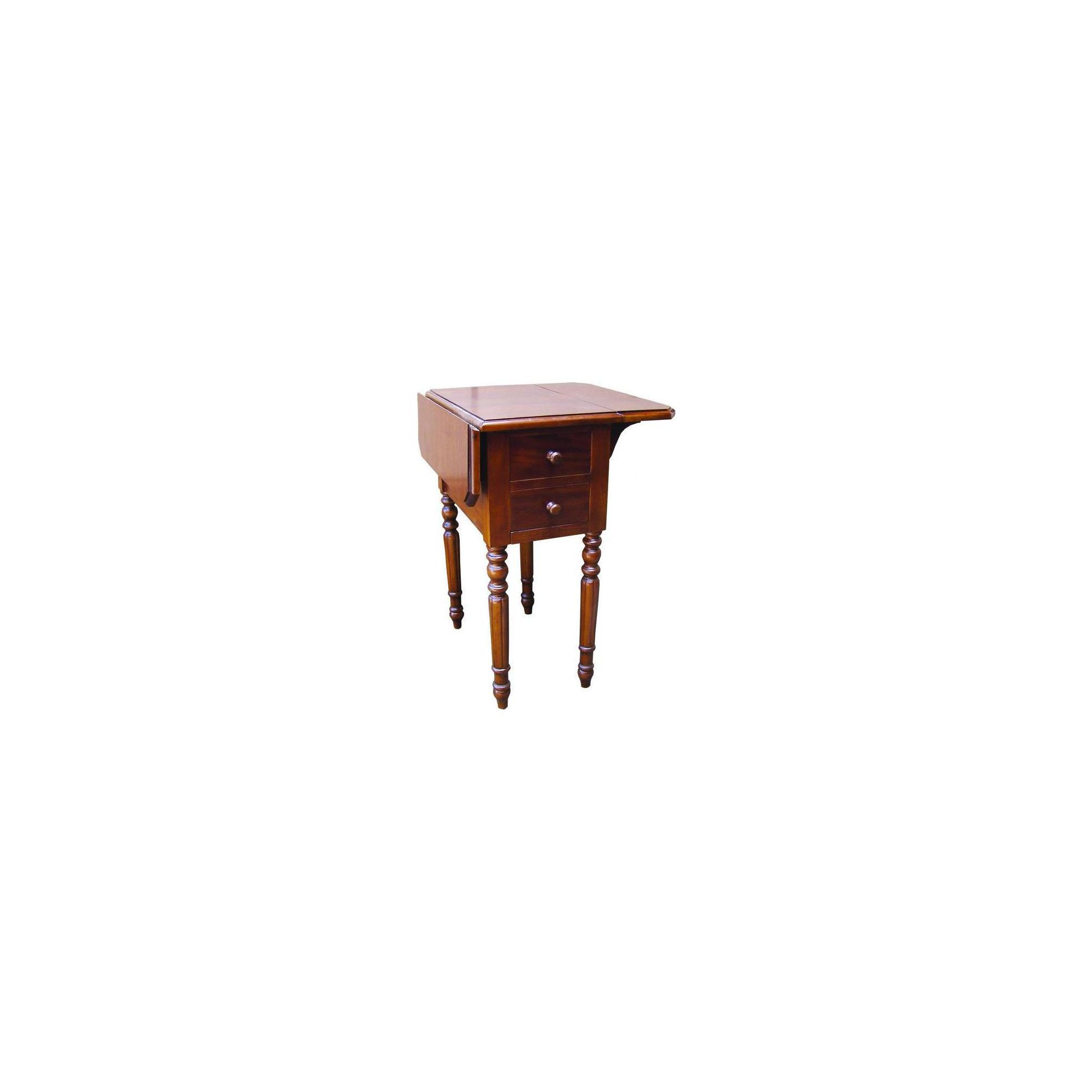 Lock stock and barrel Mahogany Small Extension Table with 2 Drawer Each Side in Mahogany at Tesco Direct