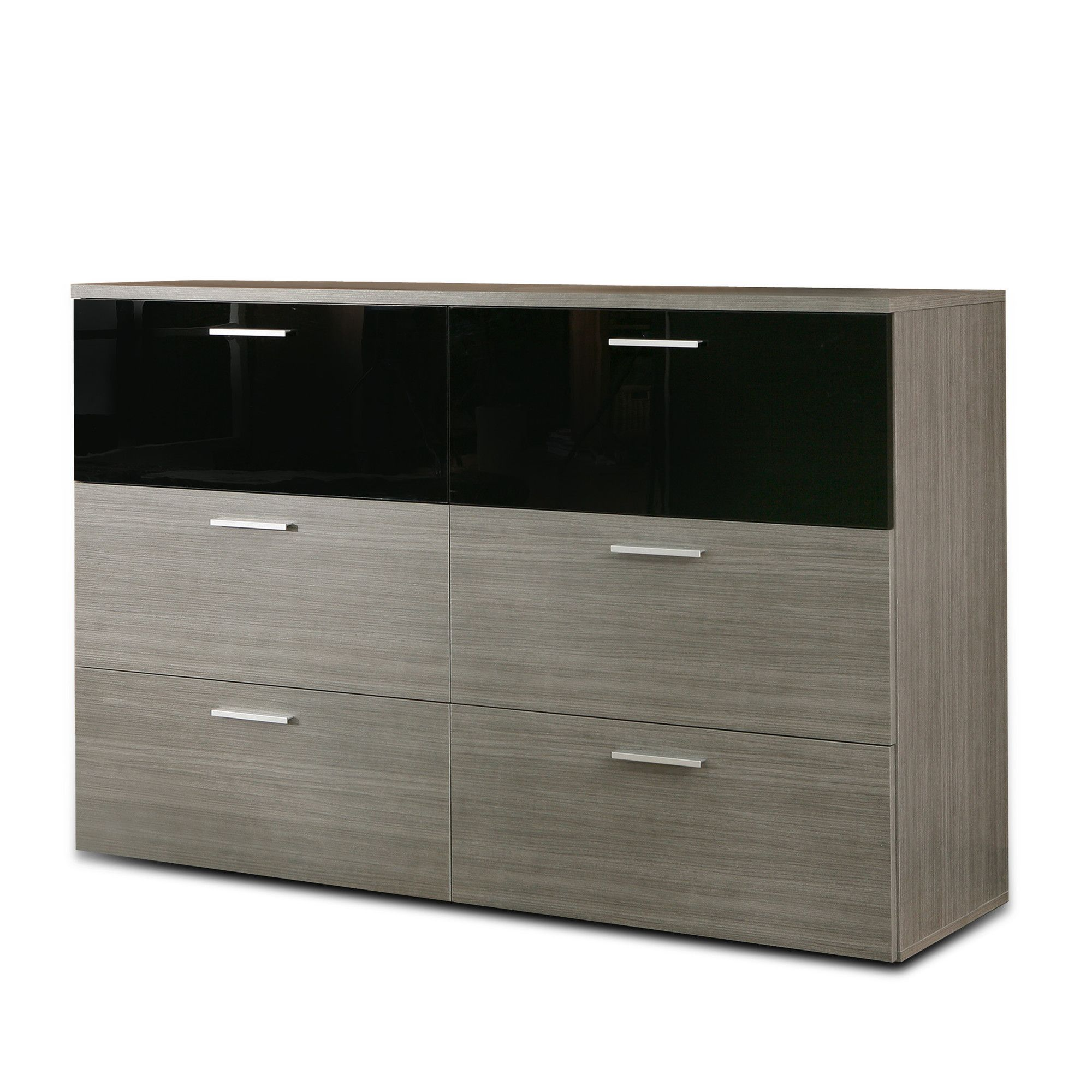 Ideal Furniture Cellini Six Drawer Chest in Grey at Tesco Direct