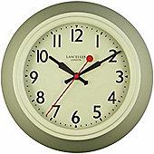 Roger Lascelles Clocks Cream Metal Wall Clock with Lascelles Dial