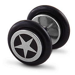 Urban Male Stainless Steel 11mm Fake Ear Expander Plug Star