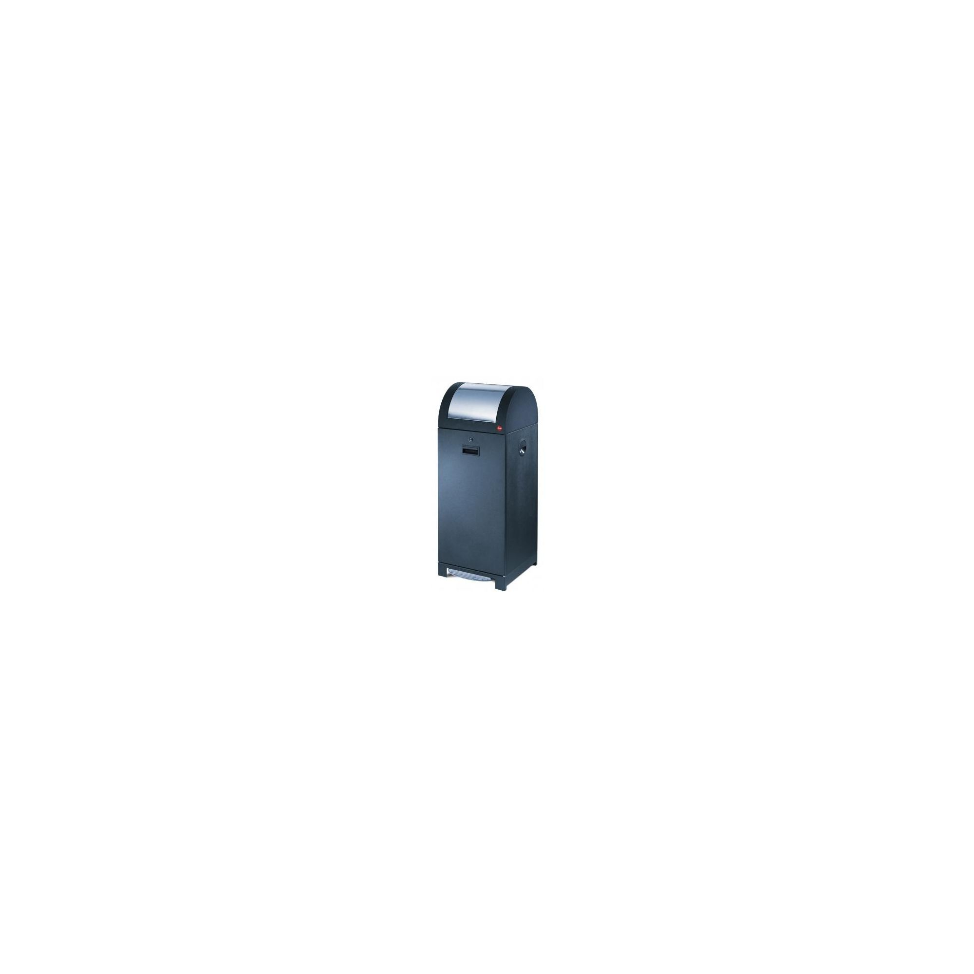 Hailo ProfiLine WSB Design 70P Recycling and Waste Bin in Black with Galvanized Inner Bin at Tesco Direct