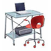 Rexite Banco Light Computer Desk - Matt / Tempered Glass