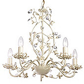 Endon Lighting Five Light Chandelier in Cream Gold