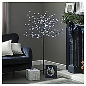5ft Pre Lit Christmas Tree, Cherry Tree (150 white LEDs)