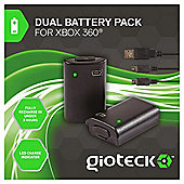 Gioteck Xbox 360 Double Battery Pack