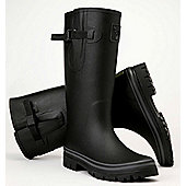 Evercreatures Mens Classic Wellies Black With Grey Edging 11