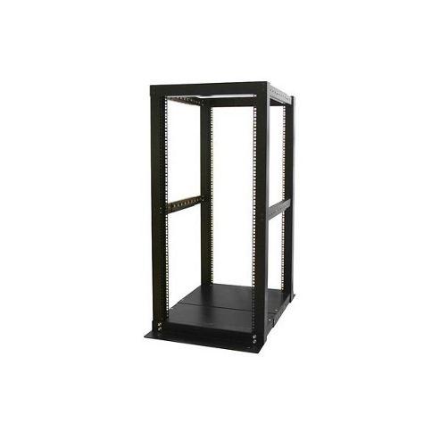 StarTech.com DuraRak 25U 4 Post Server Open Frame Rack Cabinet - Black