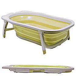 Splashy Plastic Folding Baby Bath - White / Lemon