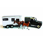 Britains Big Farm 1:16 Land Rover and Horse Trailer Set