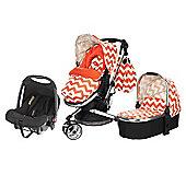 OBaby Chase Travel System (ZigZag Orange)