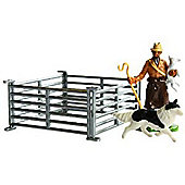 Shepherd & Sheep Hurdle Pack - Scale 1:32 - Britains Farm
